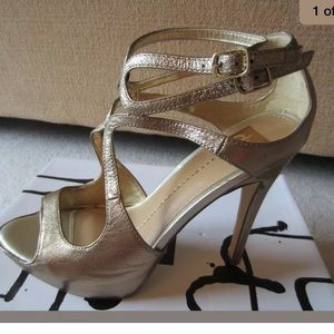 Dolce Vita Brielle Gold Copper Leather Heels 8.5